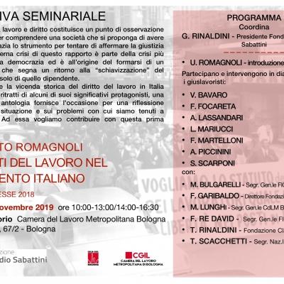 giuristi del Lavoro nel Novecento italiano [Bologna, 11 novembre 2019]