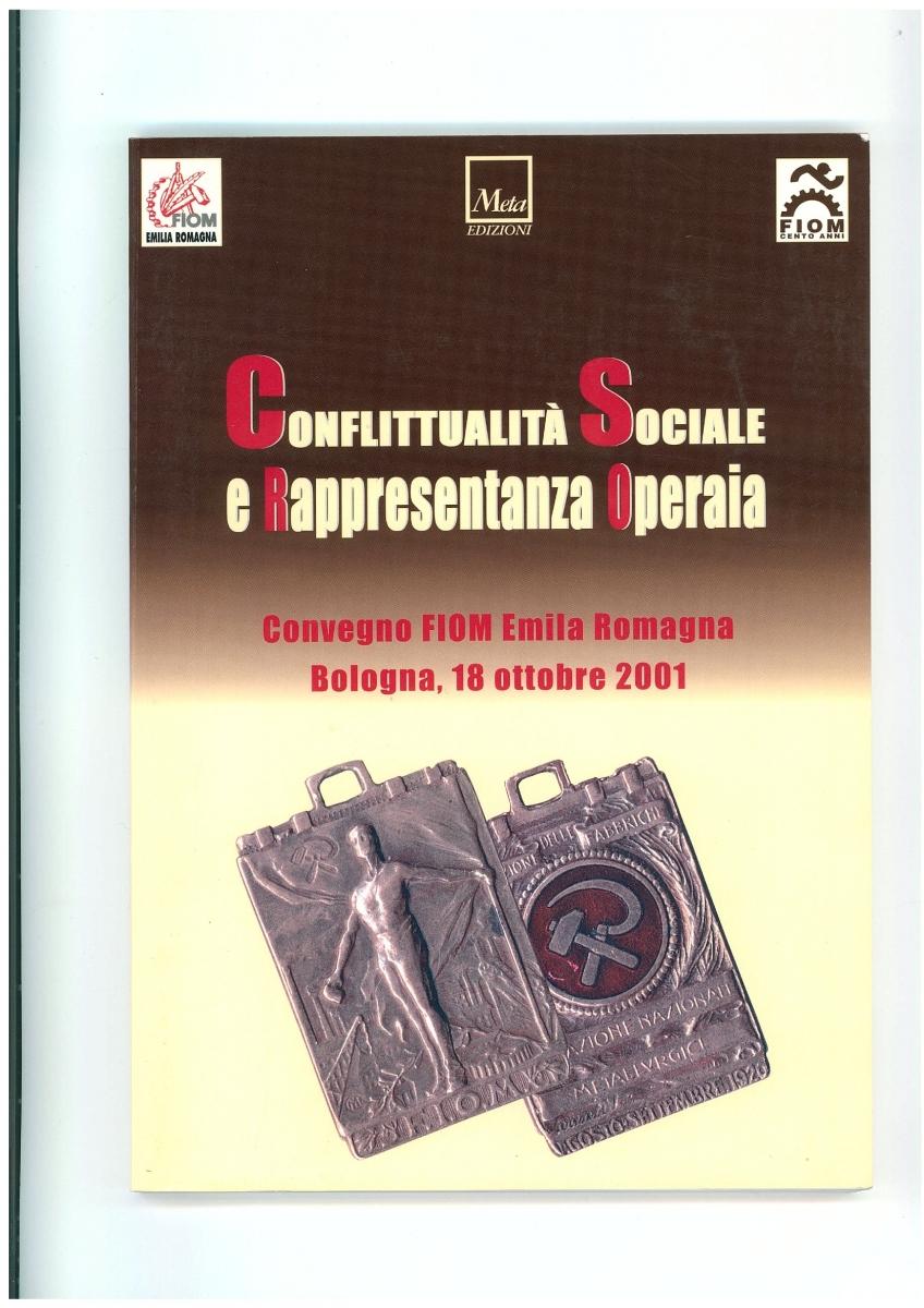 """Copertina """"Conflittualità sociale e rappresentanza operaia"""""""