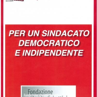 """Copertina """"Per un sindacato democratico e indipendente"""""""